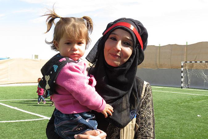 Alia in the Azraq refugee camp