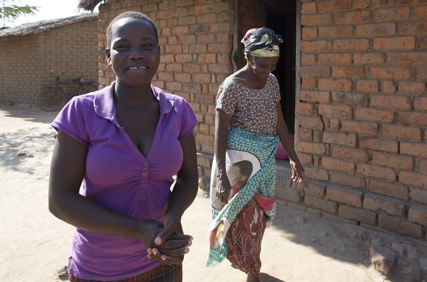 Hilda, 16, in Malawi.