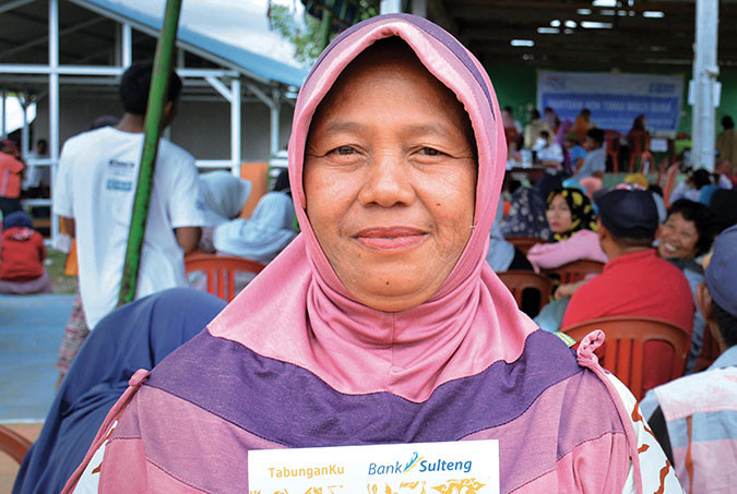 A woman who has benefited from our cash transfer programme in Indonesia
