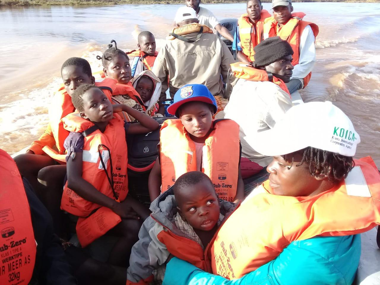 One of our search and rescue boats in Mozambique