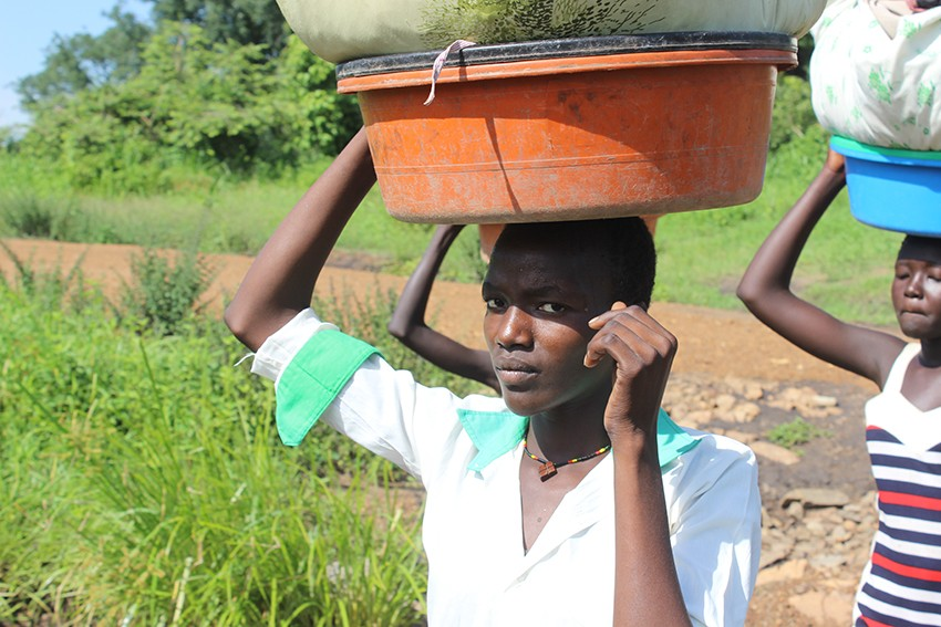 Like her friends, 15-year-old Akuc is responsible for sourcing food and water for her family in South Sudan, which means some days she doesn't go to school.