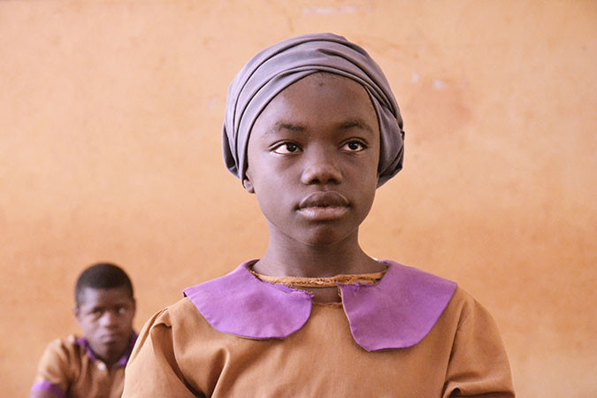 A girl attends a Plan International supported school in West Africa