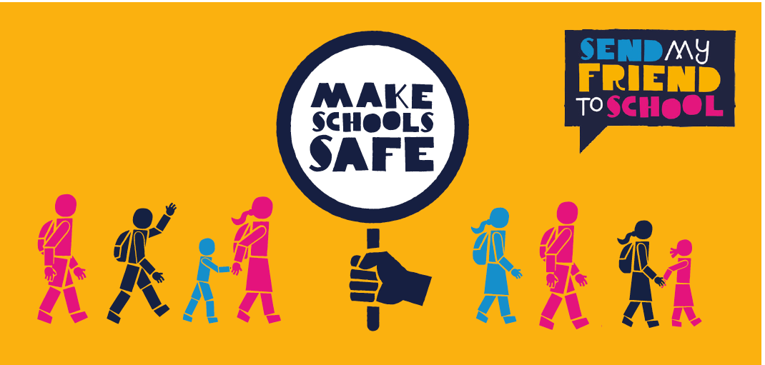 A graphic from the Make Schools Safe campaign.