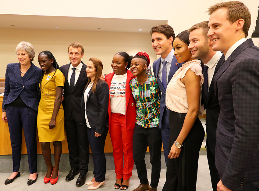 Faridah with world leaders at UNGA