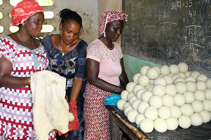 Photo of women with homemade soap
