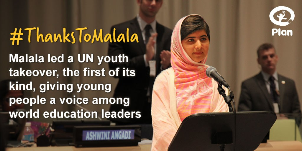 Malala staged the first ever youth takeover at the UN