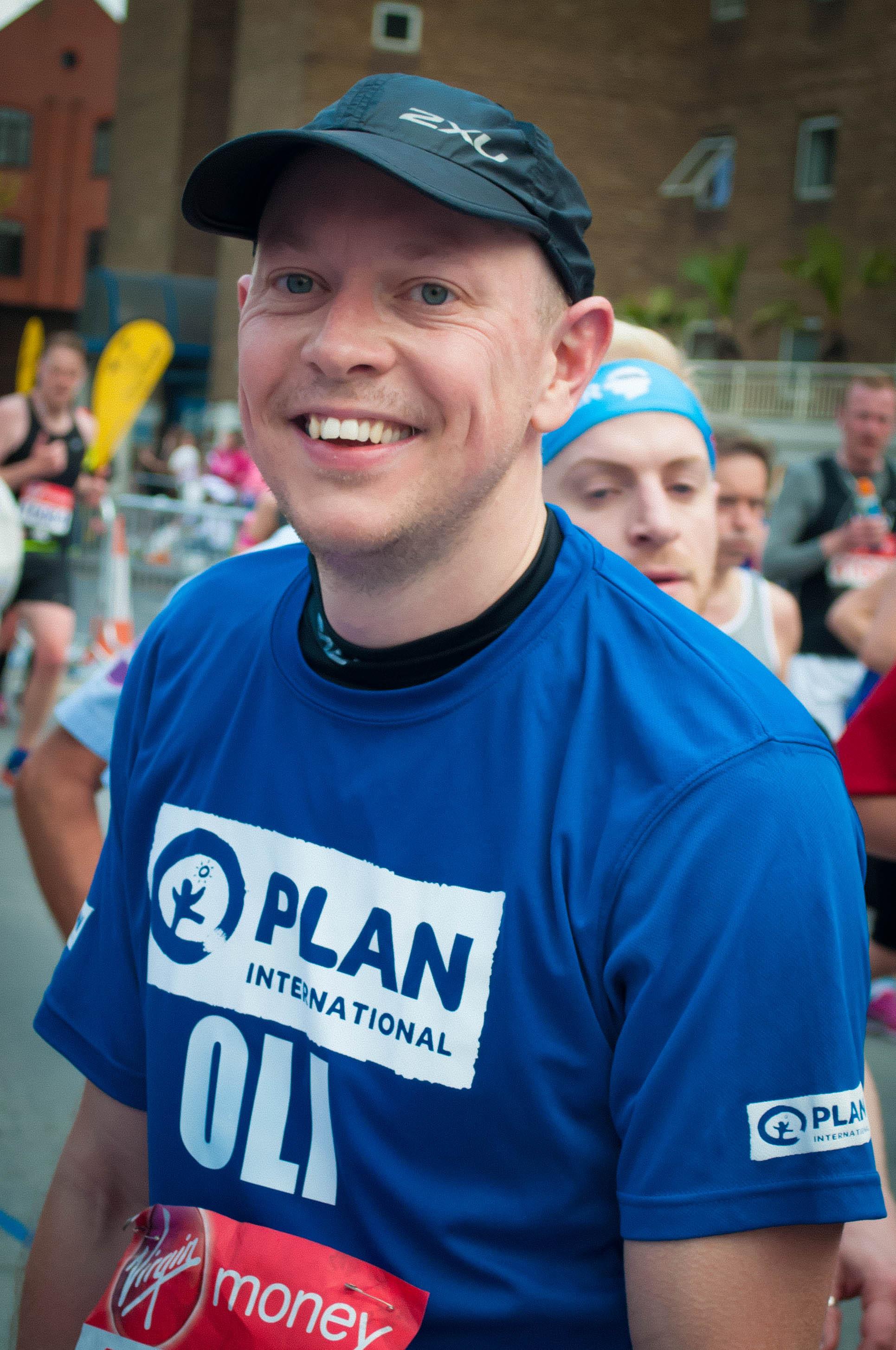 London Marathon runner Ollie raises money for Plan International UK