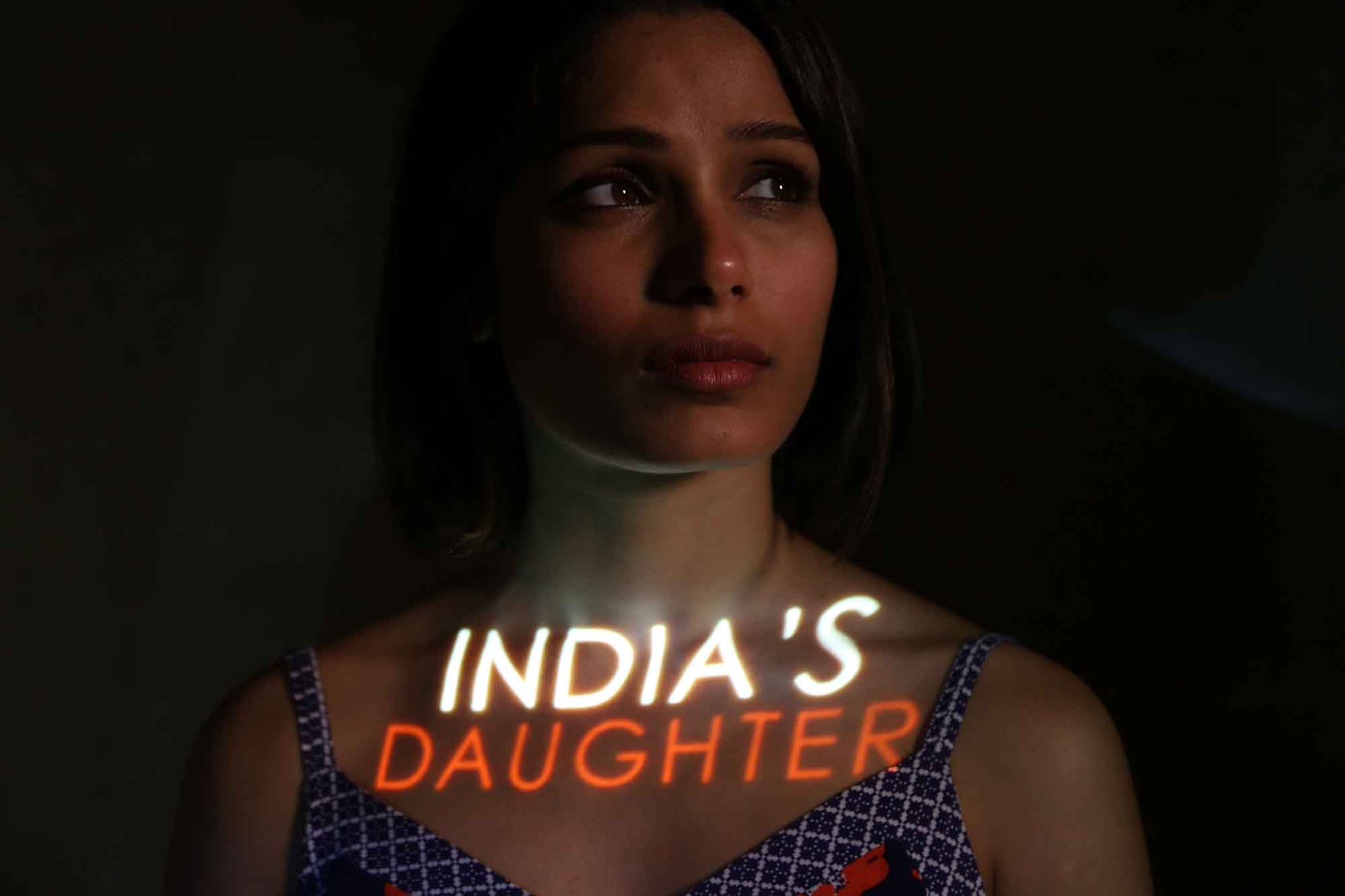 Frieda Pinto supports India's Daughter and calls for an end to violence against women in India