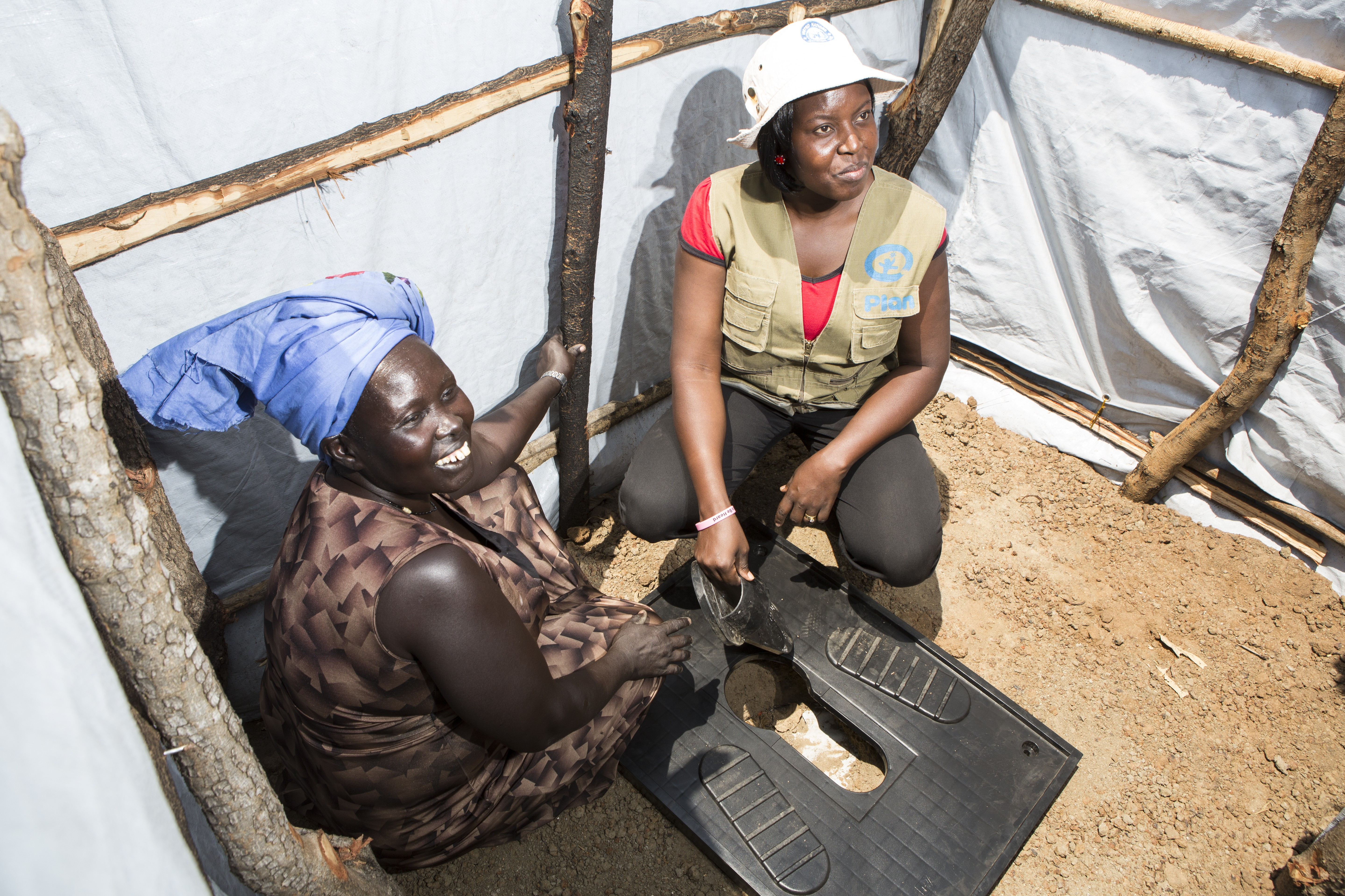 Women are safer if they have easy access to sanitation.