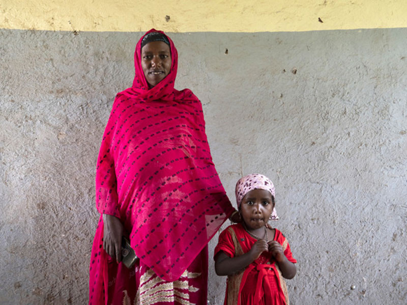 Fatjama and her daughter, Ethiopia