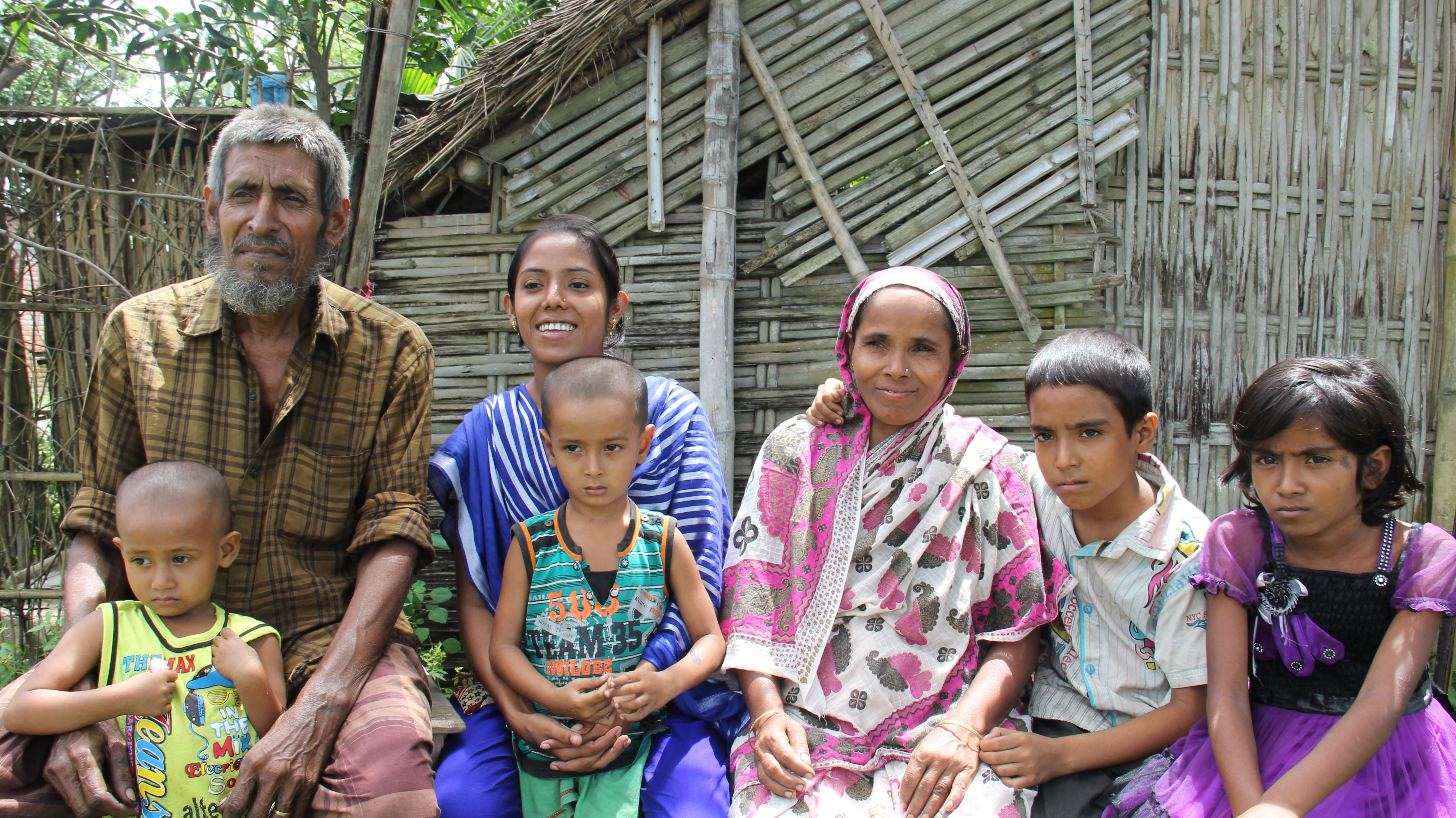 Ending child marriage: Farjina with her family