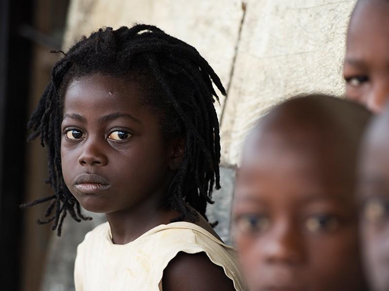 girl in Sierra Leone at school