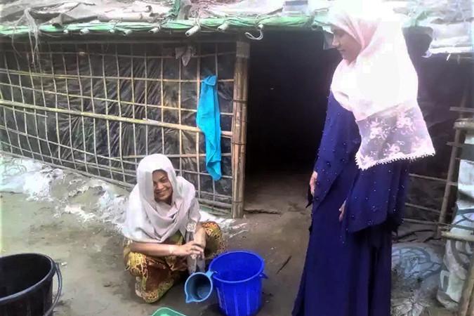 Two women outside in Cox's Bazar