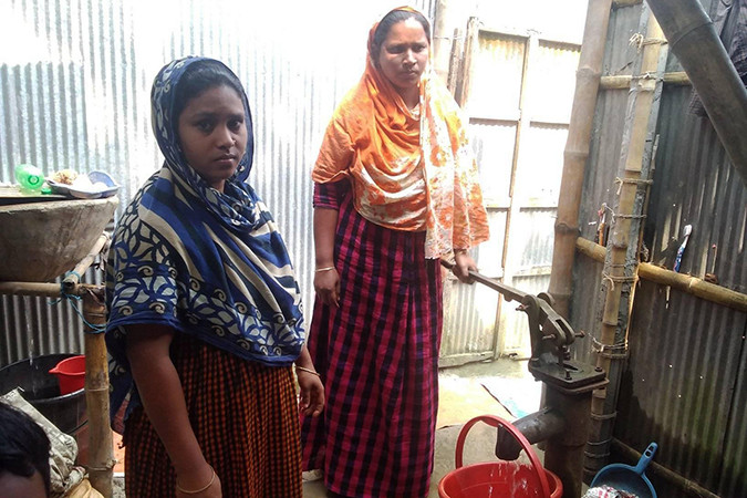 Two women in Cox's Bazar