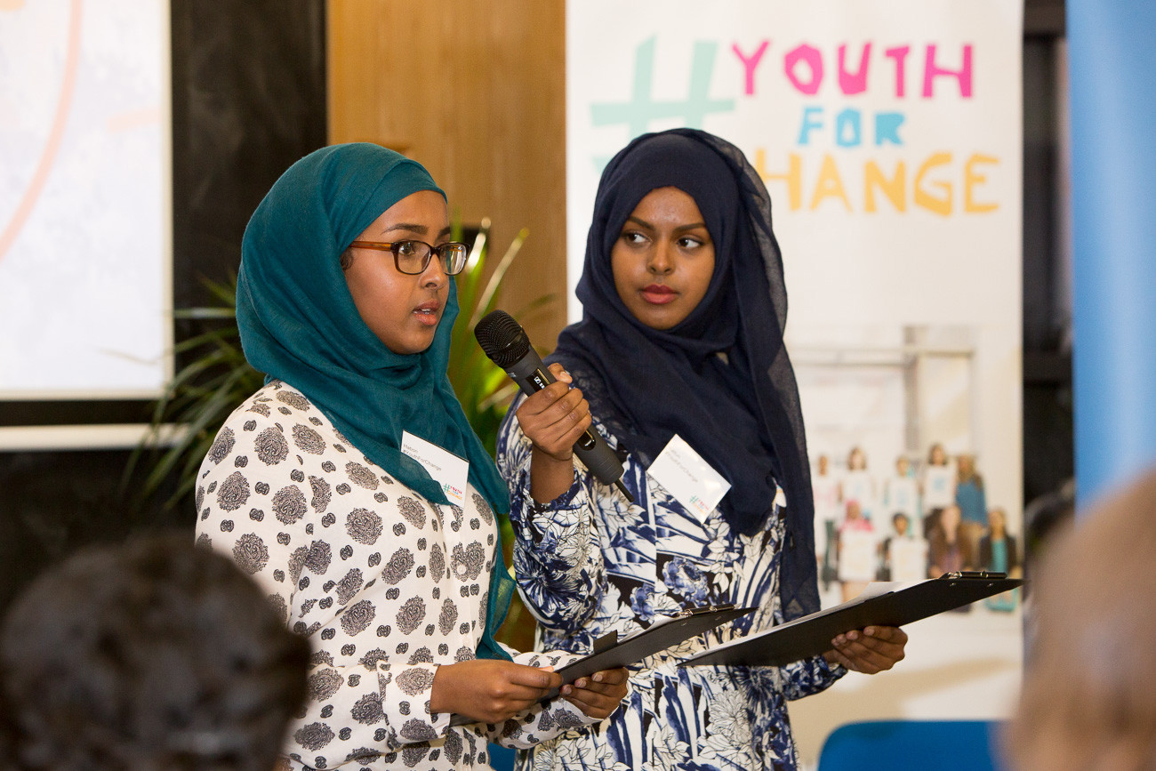 Panel members presents at the launch of Youth for Change