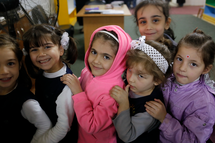 Young Syrian refugee children in Egypt