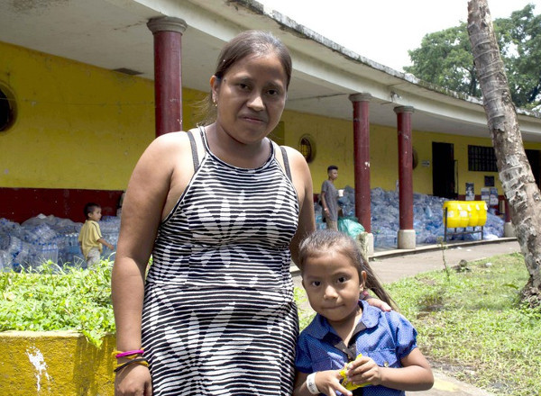 Ana and her daughter at a shelter in Guatemala