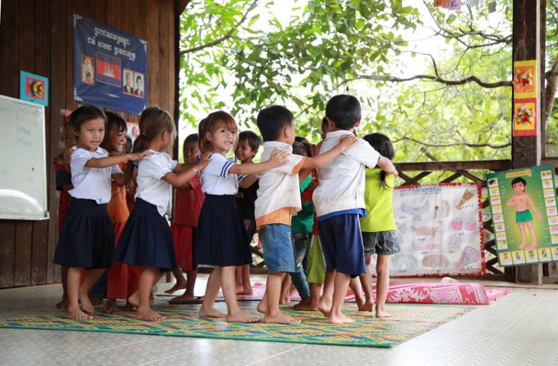 Children at pre-school in Cambodia