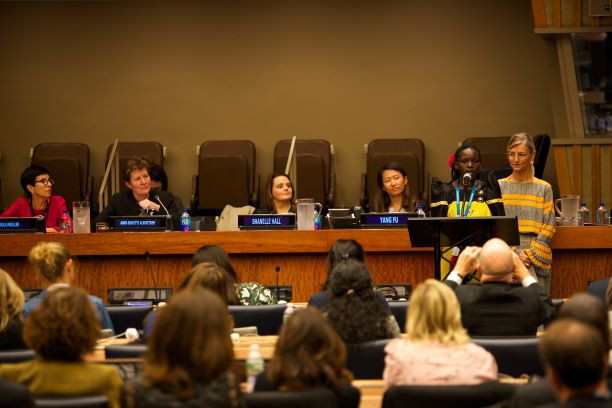 Faridah speaks at Plan International's flagship UNGA event