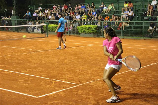 Tennis players during a tournament at the International Tennis Club of Paraguay