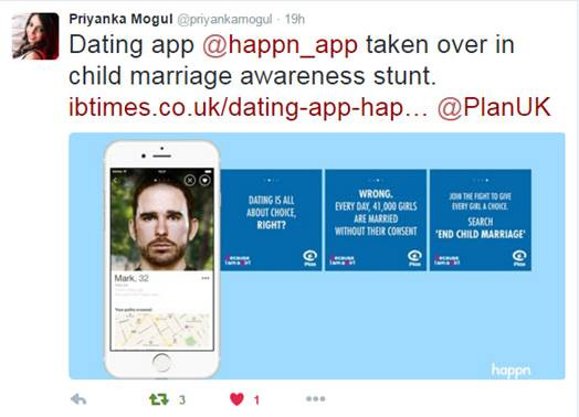 Reactions to our child marriage campaign on twitter