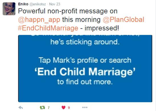Reactions on social media to our child marriage stunt with Happn