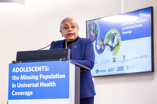 Kenyan First Lady Margaret Kenyatta opened the fringe event in Geneva with a powerful statement on the importance of adolescent health