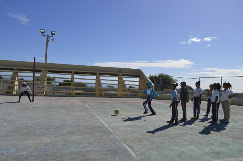 Girls playing in the Dominican Republic