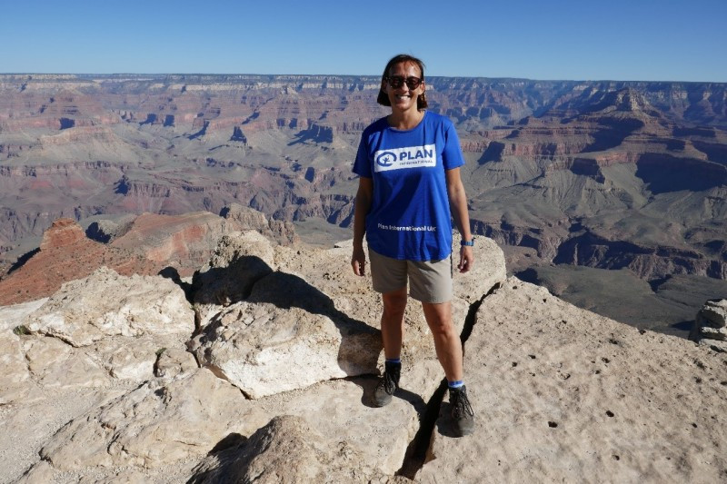 Sarah completing her Grand Canyon Trek