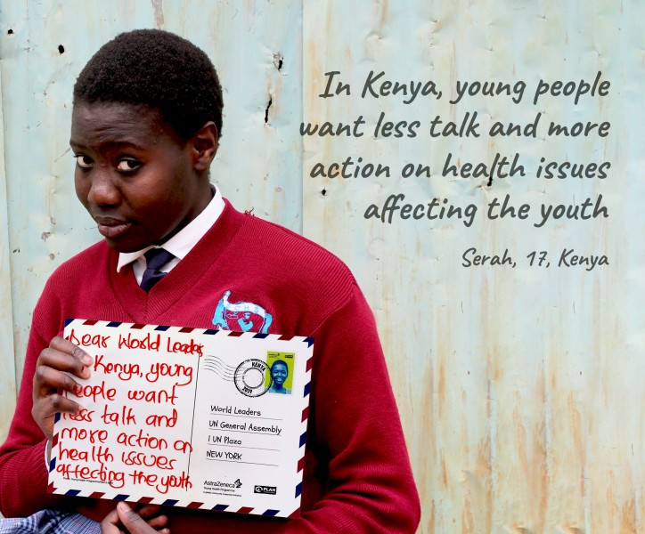 Adolescents Call for Action on Health from World Leaders