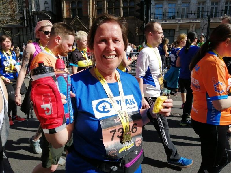 Tracy Plan International UK runner