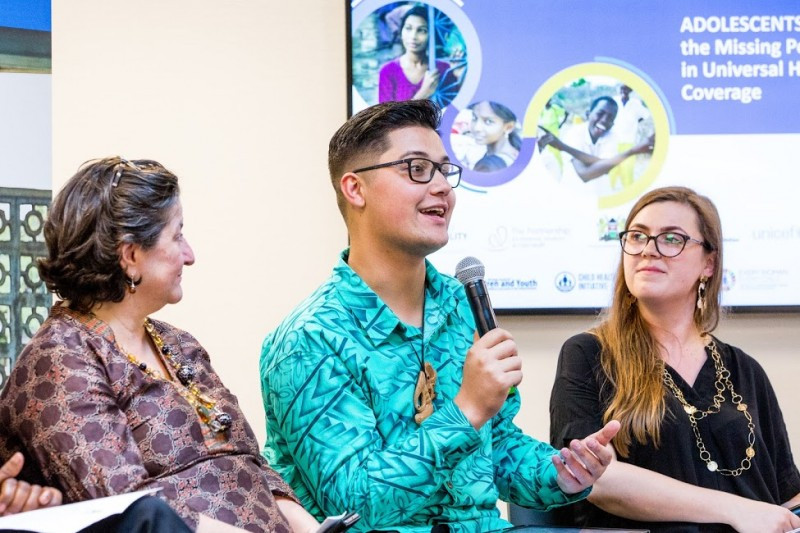 New Zealand Youth Activist Josiah Tualamali'I explains his peer support work at the Fringe Event on Adolescent Health