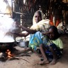 CAR refugee mum makes dinner for her daughter