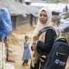 WASH facilitator Jahanara at work in Cox's Bazar, Bangladesh