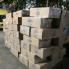 Shelter kits ready for distribution in Lombok