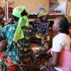 CAR refugee mums gather in a Cameroon refugee camp