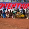 Burundian refugees queue to board bus to Nduta camp