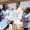 UK aid funded a youth led project in Malawi - here young adovcates present a petition to the First Lady