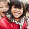 Smiling girls in Vietnam
