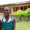 A smiling girl in Ghana