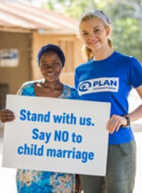 Actor and Plan International ambassador Natalie Dormer