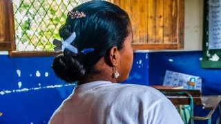 Silma, 16, has returned to school after giving birth at 14 Nicaragua