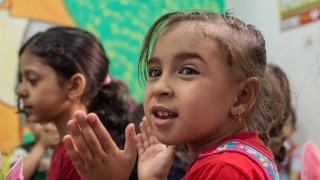 Syrian Refugee Children in a Plan International Learning Centre