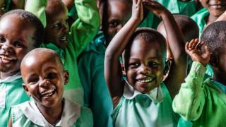 Children at pre-school in Uganda
