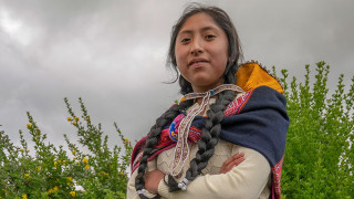 Milania is a girl leader in her rural community in Peru