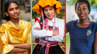 Photo of young women from around the world