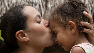 Sponsored child and mother