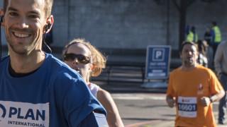 Team Plan half marathon runner