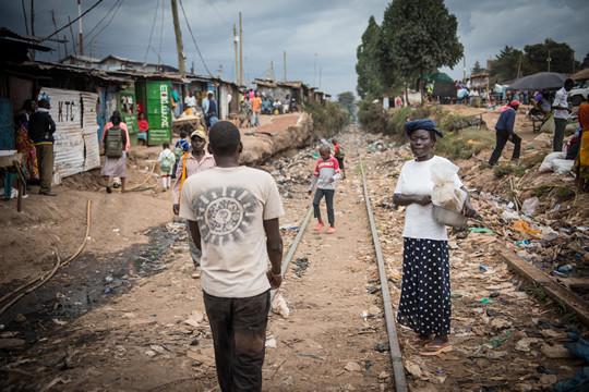 A photo of Kibera, Kenya.